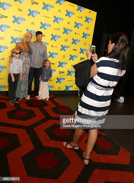 Actor Tucker Bernon with family Ashley Bernon Skylar Bernon and Paul Bernon attend the premiere of Results during the 2015 SXSW Music Film...