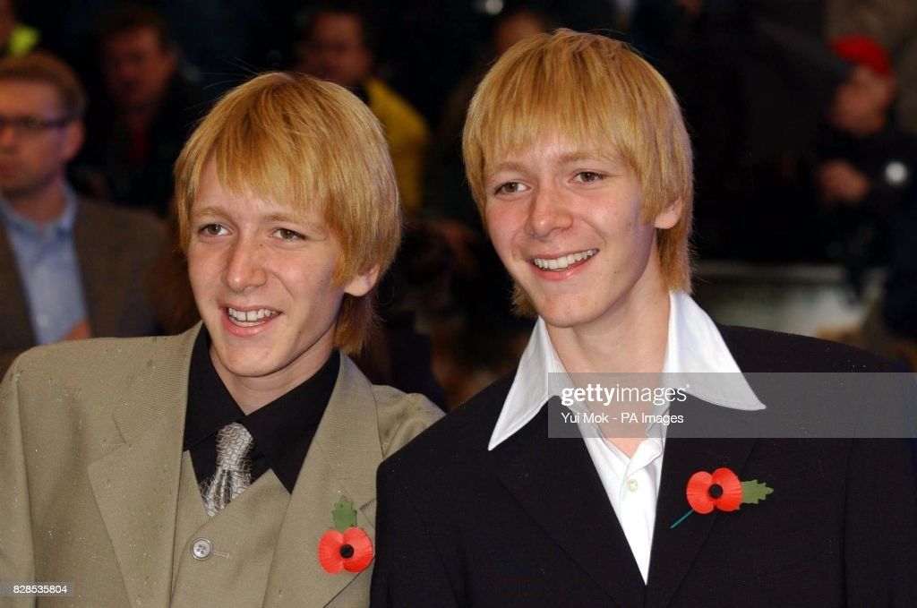 phelps brothers chamber of secrets pictures getty images actor twins james and oliver phelps who play the characters fred and george weasley arrive for