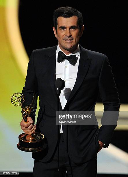 Actor Ty Burrell accepts the Outstanding Supporting Actor in a Comedy Series award onstage during the 63rd Annual Primetime Emmy Awards held at Nokia...