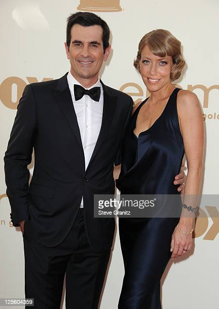 Actor Ty Burrell and Holly Burrell arrives to the 63rd Primetime Emmy Awards at the Nokia Theatre LA Live on September 18 2011 in Los Angeles United...