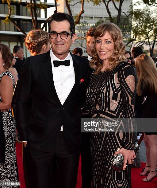 Actor Ty Burrell and Holly Burrell attend the AMC celebration of the final 7 episodes of Mad Men with the Black Red Ball at the Dorothy Chandler...