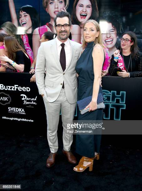 Actor Ty Burrell and Holly Burrell attend the 'Rough Night' New York Premiere on June 12 2017 in New York City
