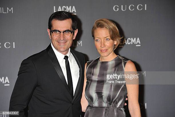 Actor Ty Burrell and wife Holly arrive at LACMA 2012 Art Film Gala held at LACMA