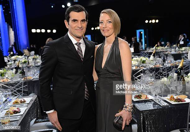 Actor Ty Burrell and wife Holly attend the 19th Annual Screen Actors Guild Awards at The Shrine Auditorium on January 27 2013 in Los Angeles...
