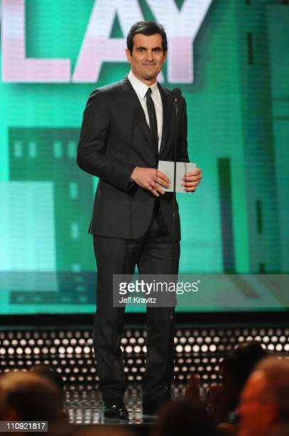 Actor Ty Burrell onstage at the First Annual Comedy Awards at Hammerstein Ballroom on March 26, 2011 in New York City.