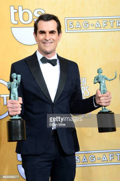 Actor Ty Burrell winner of the Outstanding Performance by a Male Actor in a Comedy Series and Outstanding Performance by an Ensemble in a Comedy...
