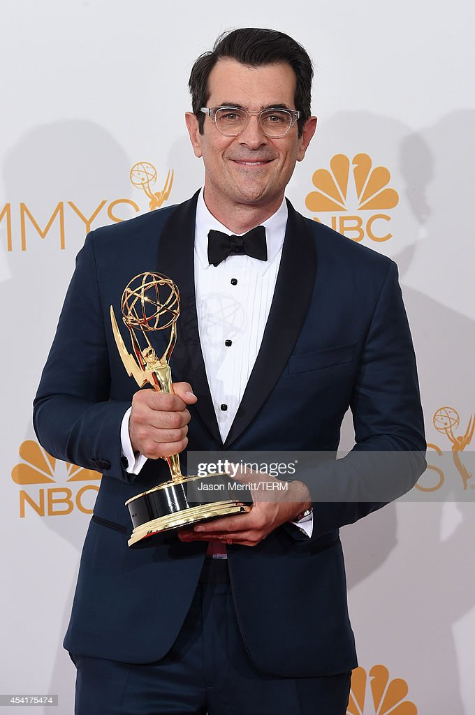 Actor Ty Burrell, winner of the Outstanding Supporting Actor in a Comedy Series Award for Modern Family