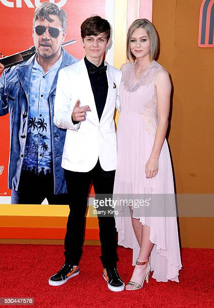 Actor Ty Simpkins and actress Ryan Simpkins attend the premiere of Warner Bros Pictures' 'The Nice Guys' at TCL Chinese Theatre on May 10 2016 in...