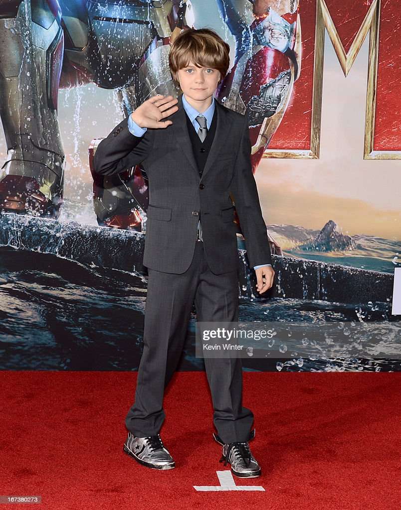 Actor Ty Simpkins arrives at the premiere of Walt Disney Pictures' 'Iron Man 3' at the El Capitan Theatre on April 24, 2013 in Hollywood, California.