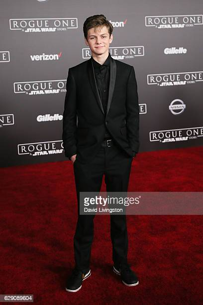Actor Ty Simpkins arrives at the premiere of Walt Disney Pictures and Lucasfilm's Rogue One A Star Wars Story at the Pantages Theatre on December 10...