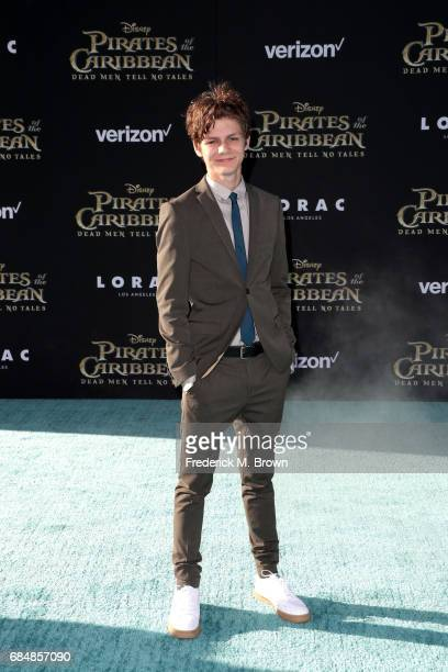 Actor Ty Simpkins attends the premiere of Disney's 'Pirates Of The Caribbean Dead Men Tell No Tales' at Dolby Theatre on May 18 2017 in Hollywood...