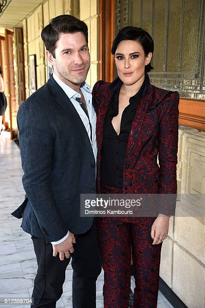Actor Tye Blue and actress Rumer Willis attend the MAC Cosmetics Zac Posen luncheon at the Ennis House hosted by Karen Buglisi Weiler Demi Moore...