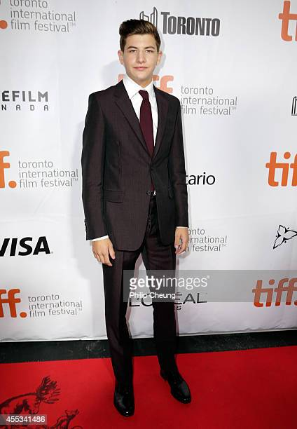 Actor Tye Sheridan attends 'The Forger' premiere during the 2014 Toronto International Film Festival at Roy Thomson Hall on September 12 2014 in...
