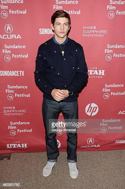 Actor Tye Sheridan attends the 'The Stanford Prison Experiment' premiere during the 2015 Sundance Film Festival on January 26 2015 in Park City Utah