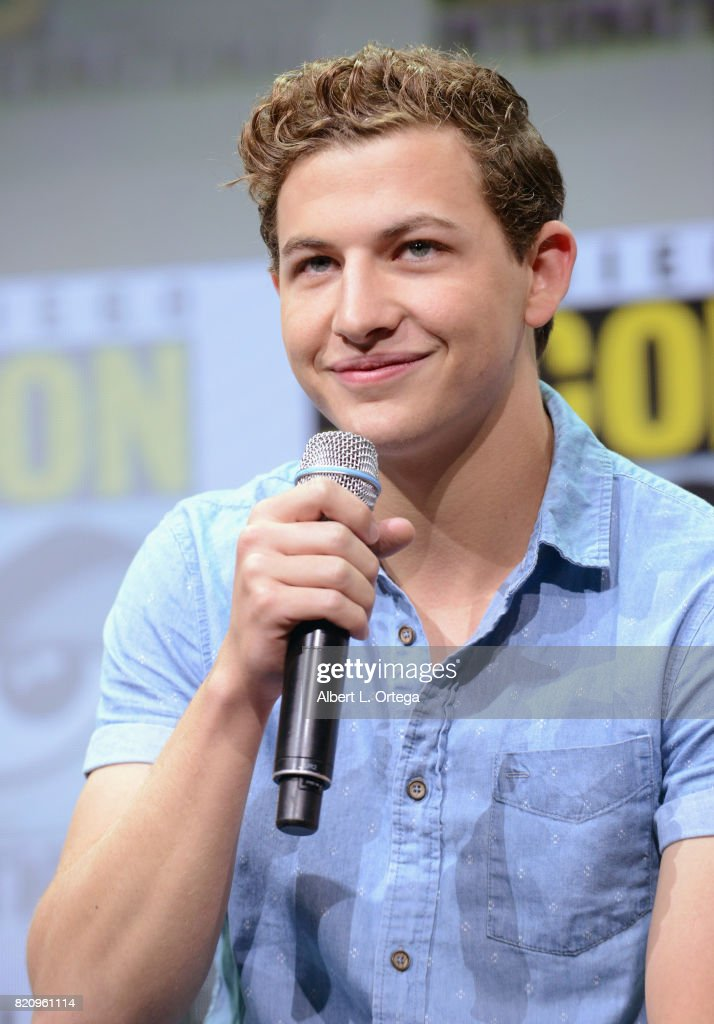 Actor Tye Sheridan attends the Warner Bros. Pictures 'Ready Player One' Presentation during Comic-Con International 2017 at San Diego Convention Center on July 22, 2017 in San Diego, California.