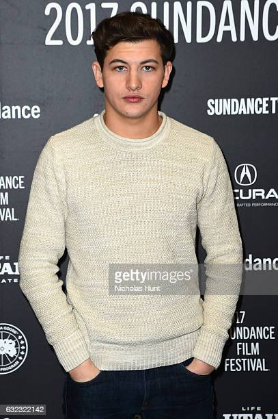 Actor Tye Sheridan attends 'The Yellow Birds' premiere on day 3 of the 2017 Sundance Film Festival at Eccles Center Theatre on January 21 2017 in...