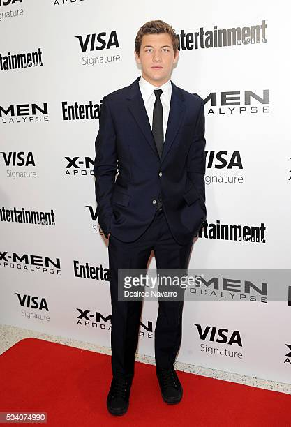 Actor Tye Sheridan attends 'XMen Apocalypse' New York Screening at Entertainment Weekly on May 24 2016 in New York City