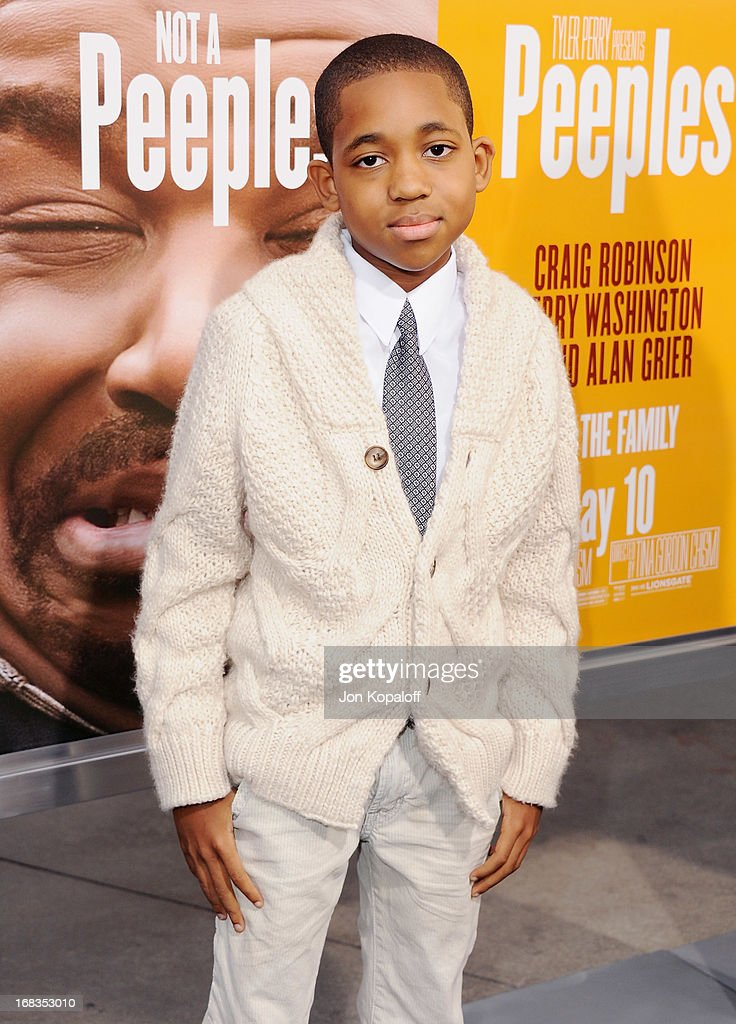 Actor Tylen Jacob Williams arrives at the Los Angeles Premiere 'Peeples' at ArcLight Hollywood on May 8, 2013 in Hollywood, California.