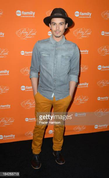 Actor Tyler Blackburn arrives at at the Screening Of ABC Family's Pretty Little Liars Special Halloween Episode at Hollywood Forever Cemetery on...