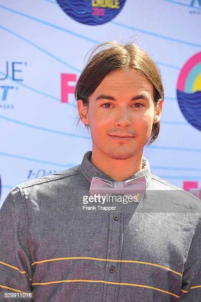 Actor Tyler Blackburn arrives at the 2012 Teen Choice Awards held at the Gibson Amphitheatre in Universal City California