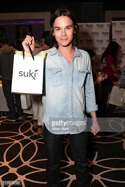 Actor Tyler Blackburn attends Kari Feinstein MTV Movie Awards Style Lounge at the W Hollywood on June 3, 2011 in Hollywood, California.