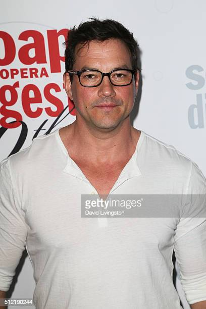 Actor Tyler Christopher arrives at the 40th Anniversary of the Soap Opera Digest at The Argyle on February 24 2016 in Hollywood California
