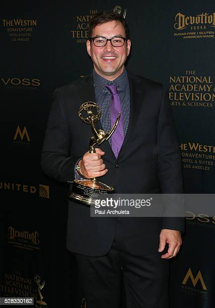 Actor Tyler Christopher attends the press room for the 2016 Daytime Emmy Awards at Westin Bonaventure Hotel on May 1 2016 in Los Angeles California
