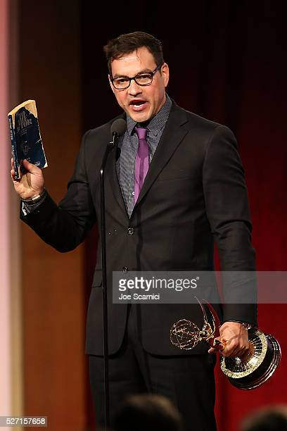 Actor Tyler Christopher speaks onstage at the 2016 Daytime Emmy Awards at Westin Bonaventure Hotel on May 1 2016 in Los Angeles California