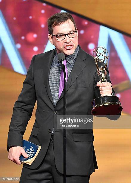 Actor Tyler Christopher speaks onstage at the 43rd Annual Daytime Emmy Awards at the Westin Bonaventure Hotel on May 1 2016 in Los Angeles California