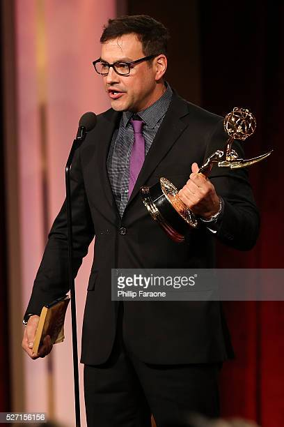 Actor Tyler Christopher speaks onstage during the 2016 Daytime Emmy Awards at Westin Bonaventure Hotel on May 1 2016 in Los Angeles California