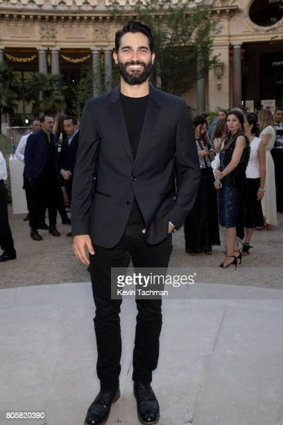 Actor Tyler Hoechlin arrives for the amfAR Paris Dinner at Le Petit Palais on July 2 2017 in Paris France