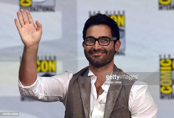 Actor Tyler Hoechlin attends MTV's 'Teen Wolf' panel during ComicCon International 2014 at the San Diego Convention Center on July 24 2014 in San...