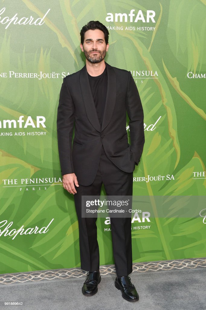 Actor Tyler Hoechlin attends the amfAR Paris Dinner 2018 at The Peninsula Hotel on July 4, 2018 in Paris, France.