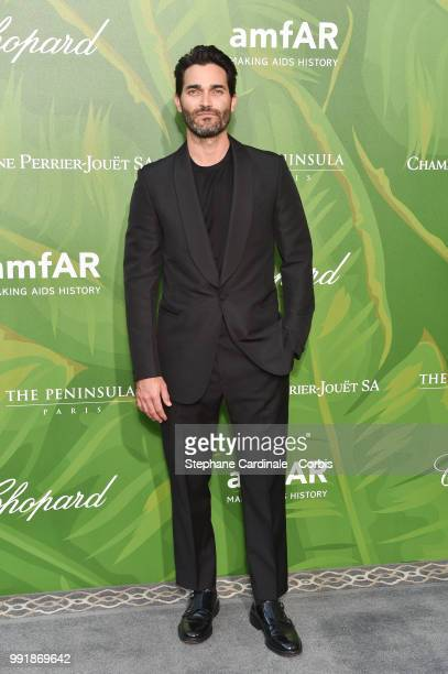 Actor Tyler Hoechlin attends the amfAR Paris Dinner 2018 at The Peninsula Hotel on July 4 2018 in Paris France