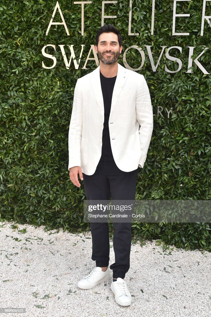 Actor Tyler Hoechlin attends the Atelier Swarovski : Cocktail Of The New Penelope Cruz Fine Jewelry Collection as part of Paris Fashion Week on July 2, 2018 in Paris, France.