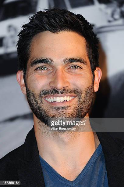 Actor Tyler Hoechlin attends the John Varvatos' new book 'John Varvatos Rock In Fashion' launch party at John Varvatos Los Angeles on November 7 2013...
