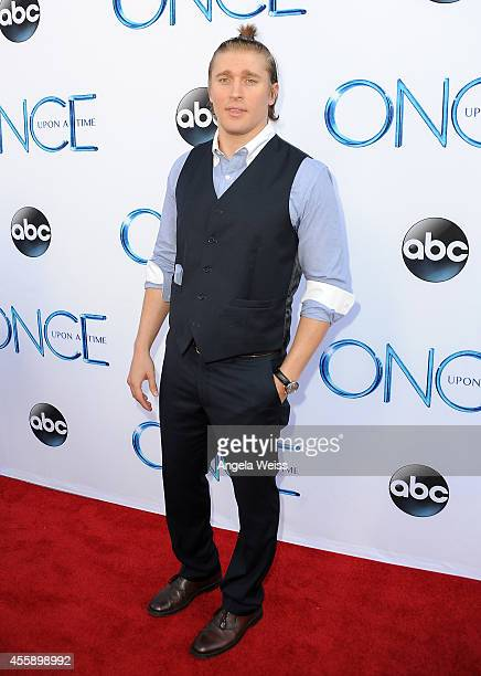 """Actor Tyler Jacob Moore attends ABC's """"Once Upon A Time"""" Season 4 red carpet premiere at the El Capitan Theatre on September 21, 2014 in Hollywood,..."""