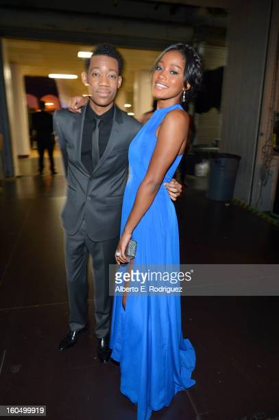 Actor Tyler James Williams and actress Keke Palmer attend the 44th NAACP Image Awards at The Shrine Auditorium on February 1 2013 in Los Angeles...
