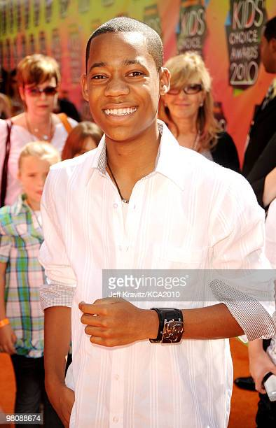Actor Tyler James Williams arrives at Nickelodeon's 23rd Annual Kids' Choice Awards held at UCLA's Pauley Pavilion on March 27, 2010 in Los Angeles,...