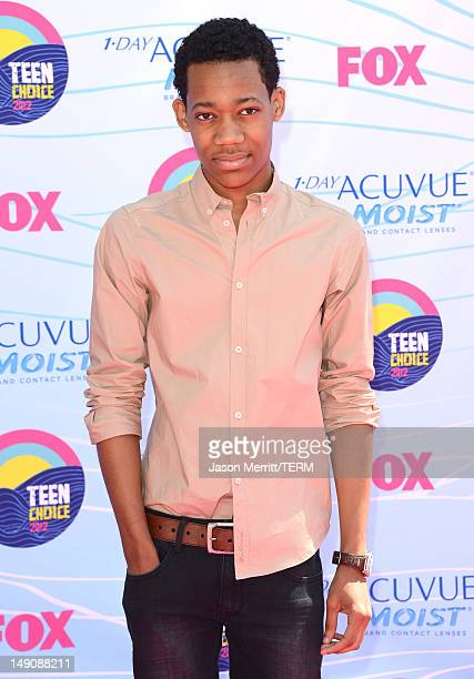 Actor Tyler James Williams arrives at the 2012 Teen Choice Awards at Gibson Amphitheatre on July 22 2012 in Universal City California