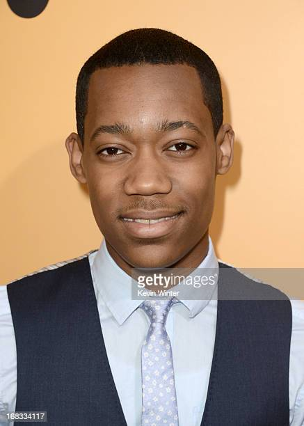 Actor Tyler James Williams arrives at the premiere of 'Peeples' presented by Lionsgate Film and Tyler Perry at ArcLight Hollywood on May 8 2013 in...