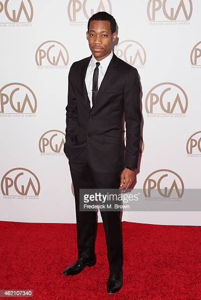 Actor Tyler James Williams attends the 26th Annual Producers Guild Of America Awards at the Hyatt Regency Century Plaza on January 24 2015 in Los...