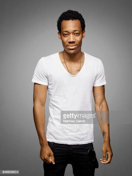 Actor Tyler James Williams from 'Criminal Minds Beyond Borders' is photographed for Entertainment Weekly Magazine on July 21 2016 at Comic Con in the...