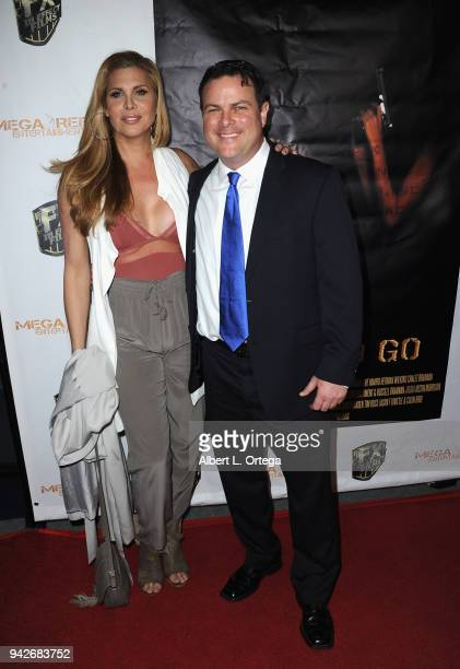 Actor Tyler McDanniel and guest arrive for the Los Angeles Premiere of 'Miles To Go' held at Writers Guild Theater on April 5 2018 in Beverly Hills...