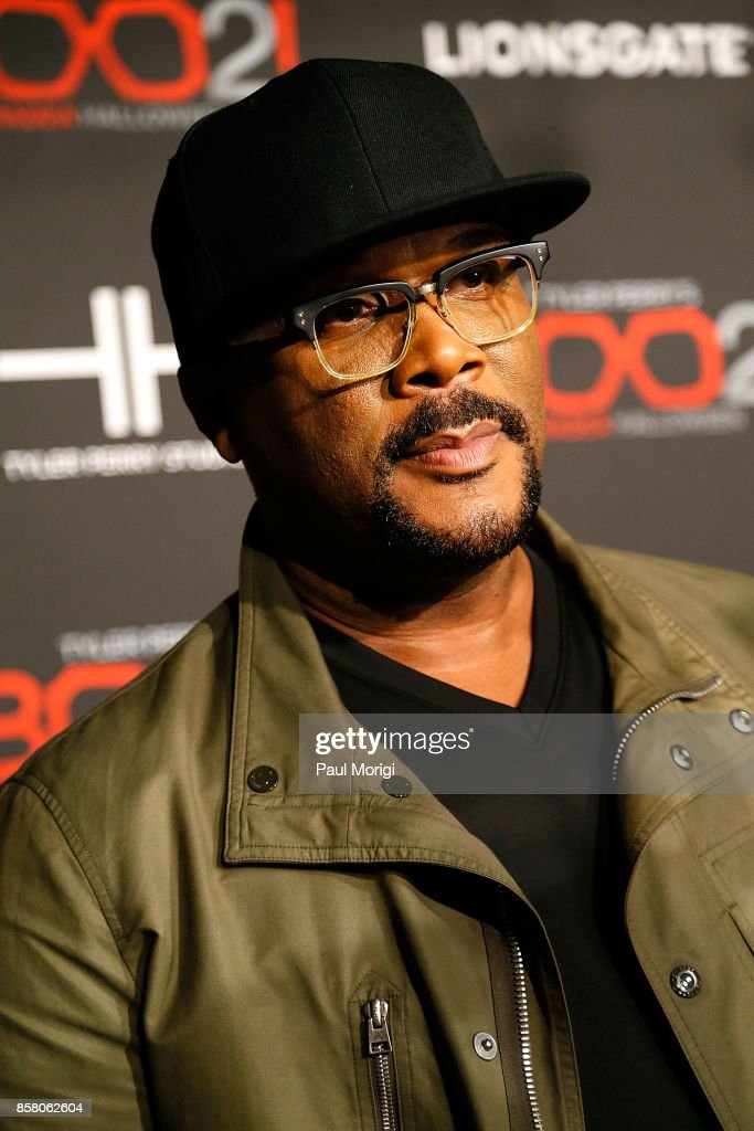Actor Tyler Perry arrives at Tyler Perry's 'Boo2! A Madea Halloween' premiere at AMC Mazza Gallerie 14 on October 5, 2017 in Washington, DC.