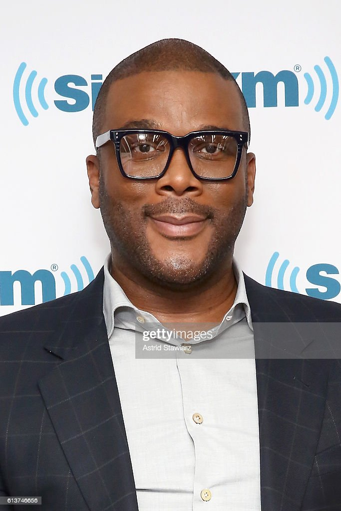 Actor Tyler Perry attends SiriusXM's 'Town Hall' With Tyler Perry at SiriusXM Studios on October 10, 2016 in New York City.