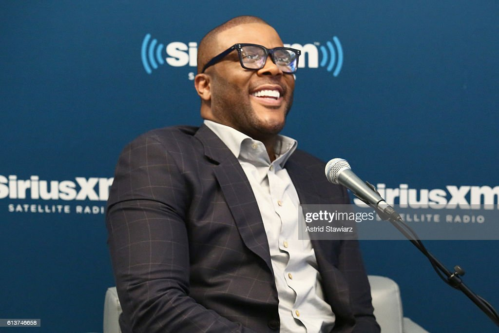 Actor Tyler Perry speaks during SiriusXM's 'Town Hall' With Tyler Perry at SiriusXM Studios on October 10, 2016 in New York City.