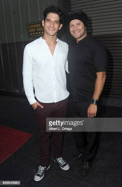 Actor Tyler Posey and artist/musician Neil D'Monte arrive for the 2nd Annual St Baldrick's Ever After Ball held at CBS Studios on August 26 2017 in...