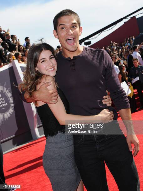 Actor Tyler Posey and Seana Gorlick arrive at the 2014 MTV Video Music Awards at The Forum on August 24 2014 in Inglewood California