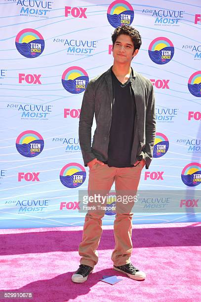Actor Tyler Posey arrives at the 2012 Teen Choice Awards held at the Gibson Amphitheatre in Universal City California
